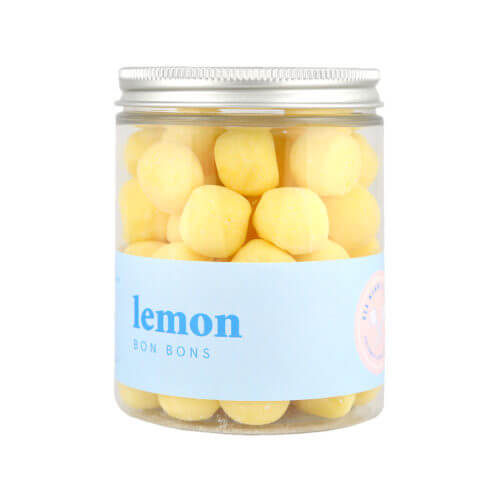 A jar of lemon bon bons