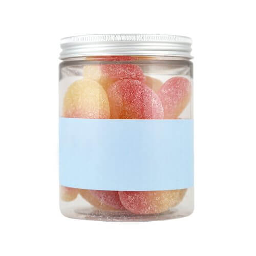 Personalised Jar of Fizzy Peaches