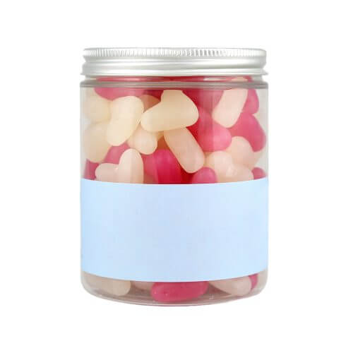Jar of Personalised Love Hearts