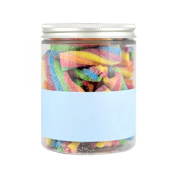 Personalised Jar of Fizzy Rainbow Pencils