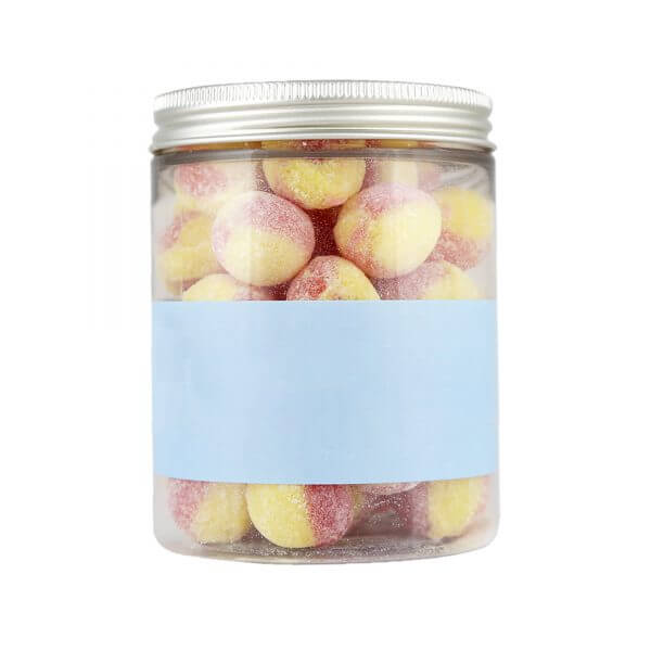 Personalised Jar of Rhubarb & Custard Boiled Sweets