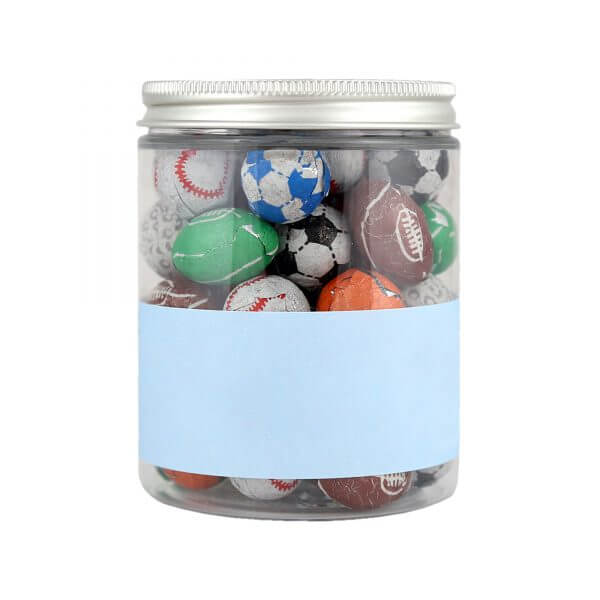 Personalised Jar of Mixed Chocolate Footballs.