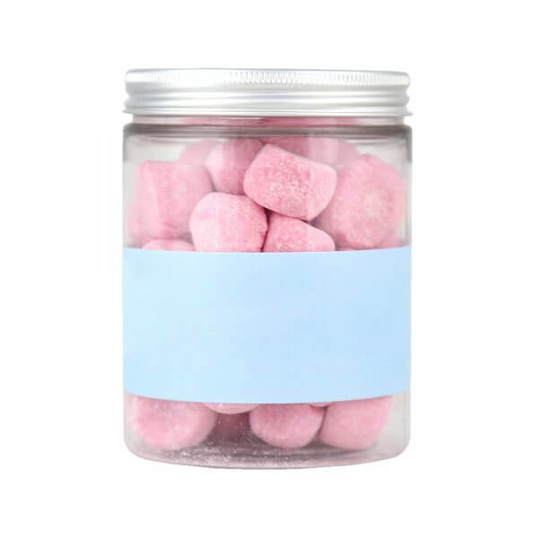 Jar of strawberry flavoured Personalised Bon Bons