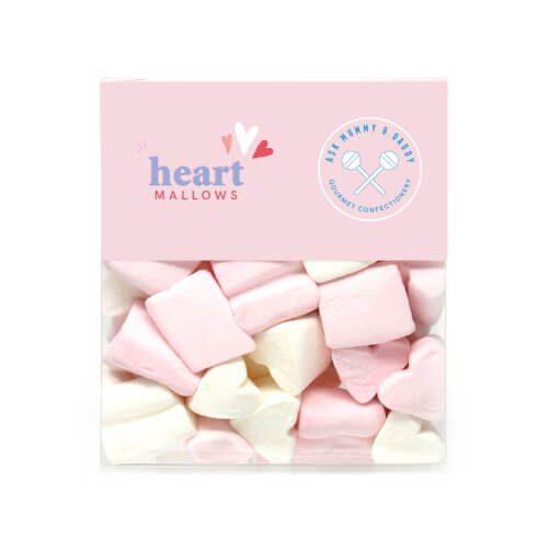 Case of Love Heart Shaped Marshmallows