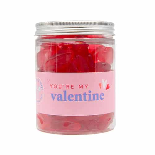 A jar of Cherry Lips Sweets